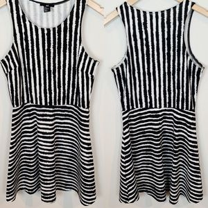 H&M Black & White Skater Dress